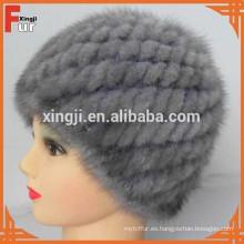 sombrero de piel de visón de calidad superior real piel de visón