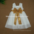 2017 new arrival pink,white,green sequin flower girl dress with big bow tulle flower girl dress