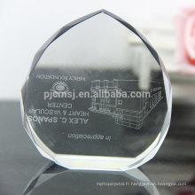 Presse-papier en cristal personnalisé en gros comme cadeau d'artisanat en cristal