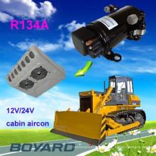 12/24 / 48v ac compressor air condiciones para carros cabine condicionador de ar dc powered carro elétrico