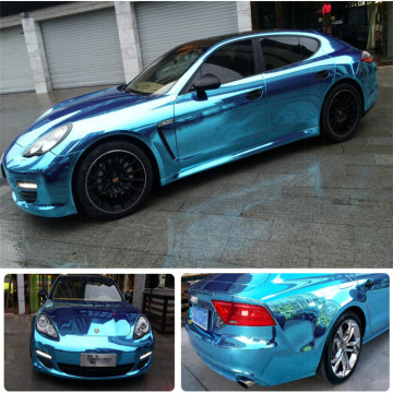 Autocollants De Voiture Mirror Chrome Vinyl Wrap