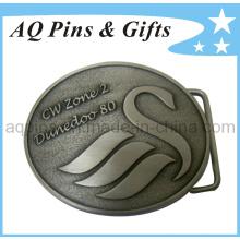 3D personalizó la hebilla de correa de plata antigua con hecho en China (correa buckle-001)