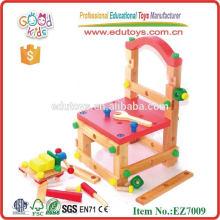 Herramienta de silla de madera juguetes educativos