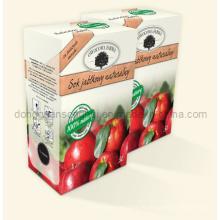 Bolsa de jugo de manzana en caja / bolsa de jugo en caja con bolsa de pico / babero en caja