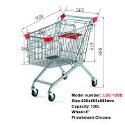 Goedkope Europese winkelwagentrolley in chroomkleur