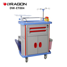 DW-ET004 Medical medications emergency crash cart for medical offices