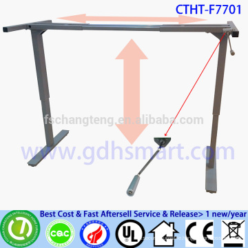 CTHT-F7701 manual crank adjustable height office table frame in 2 legs height adjustable desk for all height people