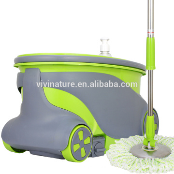Портативный Волшебный mop с 2 колесами СС ведро многоразовые вращение головки швабры
