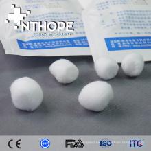 pelota desechable de algodon de alcohol de primeros auxilios
