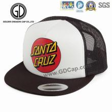 2016 nuevo diseño de malla de nylon OEM impresión baloncesto Snapback Cap