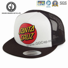 2016 New Design Nylon Mesh OEM Printing Basketball Snapback Cap
