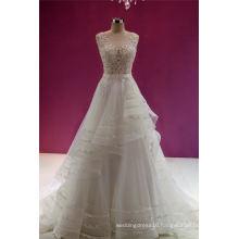 Beading Applique Evening Bridal Wedding Dress