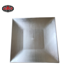 Silver  Square Plastic Charger Plate