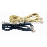Wholesale CCA Couductor 4 Cores Grey Telephone Cord for Indoor