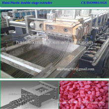 PP/PE+ Caco3 granules application and double-screw screw design twin screw extruder