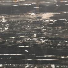 Schwarze Naturmarmorplatte für Wand und Boden