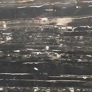 Losa de mármol natural negro para pared y piso
