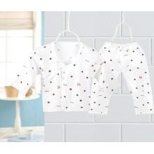 Baumwolle bedruckt Baby Anzug für 0-3m