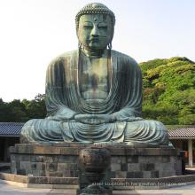 Conception populaire décoration extérieure bronze statue de Bouddha