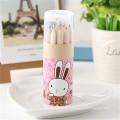 12 colores mini lápiz lindo de madera