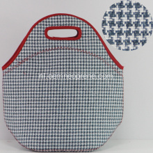 Nieuw Gingham Waterproof Neopreen Tote Lunch Bags