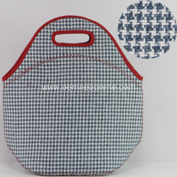 Houndstooth reusable & foldable neoprene lunch bags coolers