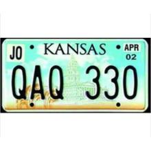 Número de placa de licencia con diseño de placa de coche 3D de placa de Licenese