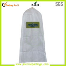 White Non Woven Dresses Garment Bag