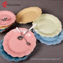 2016 meistverkaufte westlichen Stil dekorative Frucht Süßigkeiten Platte, beste Qualität Keramik Obstteller