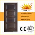 Diseño interior de la puerta principal de madera sólida del estilo de Turquía (SC-W134)