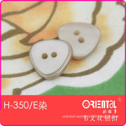 2 Hole Triangle Women Shirt Button (H-350E dye)