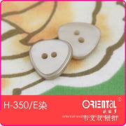 2 Hole Triangle Women Shirt Button (H-350E dye)