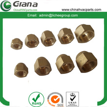 Forged brass union nut for air conditioning component