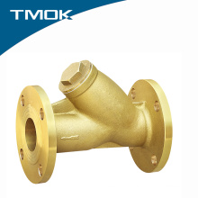 Brass flange efficient water y type valve filter with brass color
