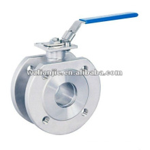 Manual Stainless Steel Steam Wafer Ball Valve with high platform