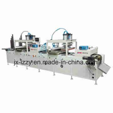 Máquina de impressão de almofada automática de impressão lateral dupla para réguas de madeira de 600 mm