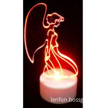 LED Angel Light, Operated by 3 Pieces AG13 Batteries