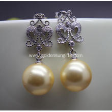 New Style Fashion 12MM Round Shell Pearl Earrings