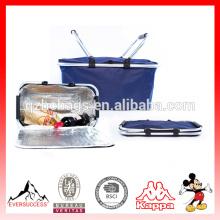 cesta de compras plegable del paño del supermercado plegable fácil lleve el bolso de cesta plegable que lleva al por mayor