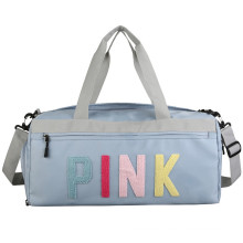 new gym fitness dry wet separation travel sports baga carry all printed duffel bag with shoes compartment