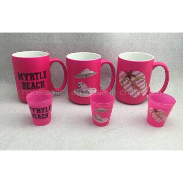 15oz Neonfarben-Becher, rosa Farben-Becher