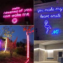 RGB Водонепроницаемый светодиодный светильник Fairy Neon Lights