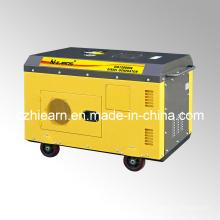 Generador diesel de dos cilindros refrigerados por aire de color amarillo (DG15000SE)