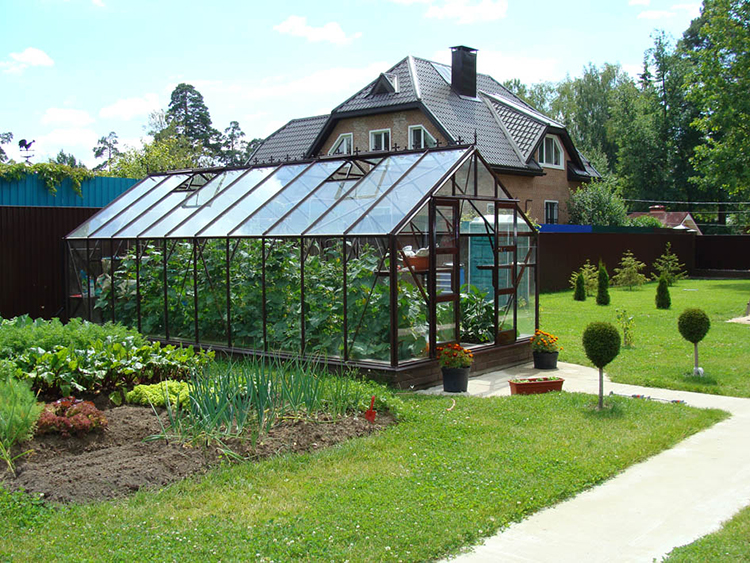 glass garden greenhouse