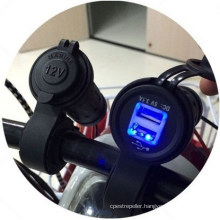 Waterproof Motorcycle Handbar USB Scoket Power Phone Charger with 60 Cm Line Length Send 2PCS Fuse as Gift