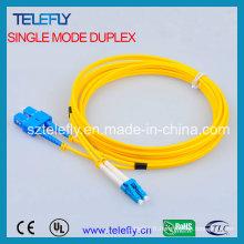 Passerelle fibre optique duplex FC-LC, câble jumper
