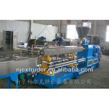 Maquina plástica del tornillo gemelo de la alta calidad que combina el extrusor / equipo de producción del masterbatch de SHJ-75