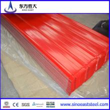 Feuille de toiture en acier inoxydable revêtue de haute qualité galvanisée / colorée