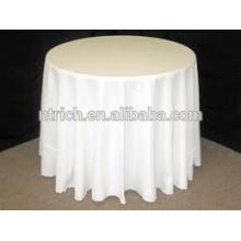 Toalha de mesa de poliéster branco para o casamento e o banquete