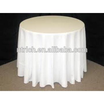 Paño de tabla del poliester blanco para boda y banquete